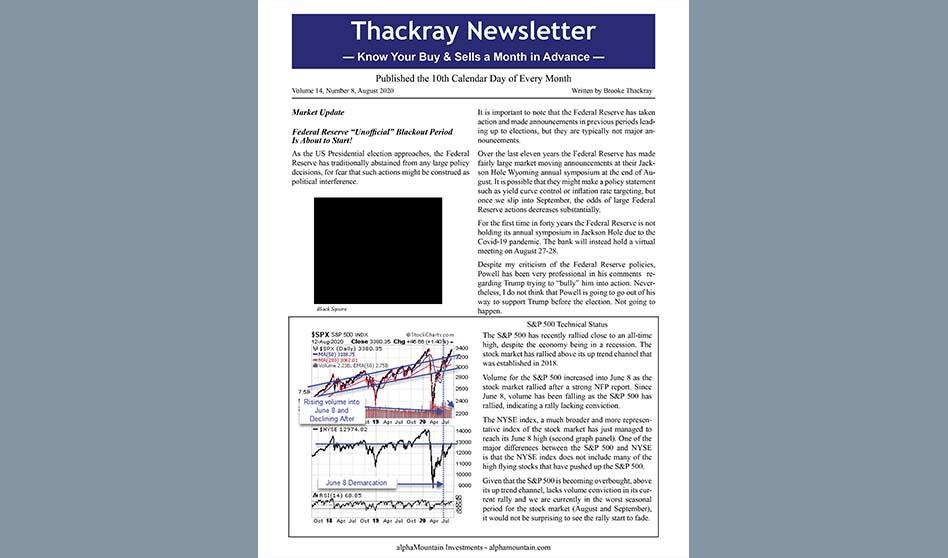 Thackray Newsletter 2020 AUGUST