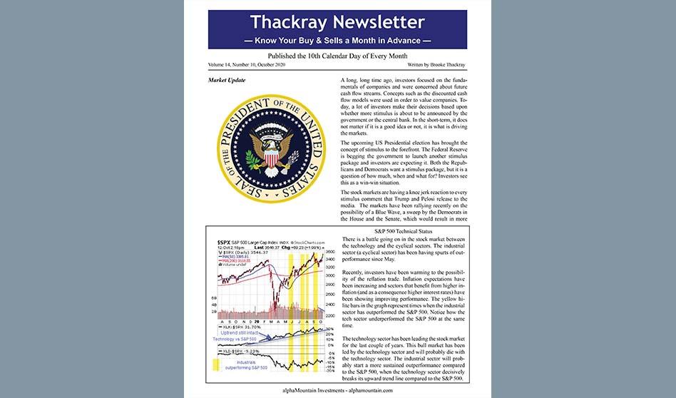 Thackray Newsletter 2020 OCTOBER