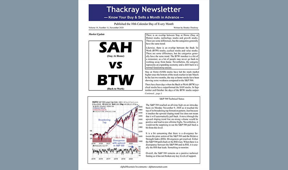Thackray Newsletter 2020 NOVEMBER