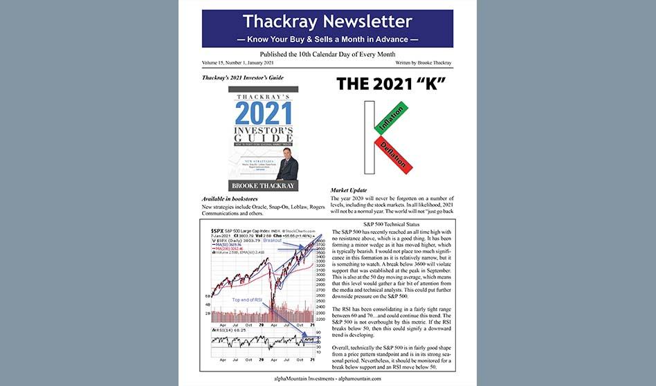 Thackray Newsletter 2021 JANUARY