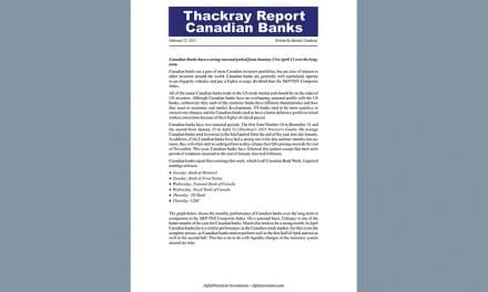 Report – Thackray's Report – Canadian Banks – FEB 22, 2021