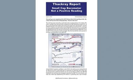 Thackray's Report- Small Cap Barometer – Not a Positive Reading