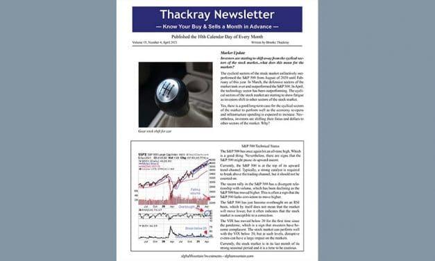 Thackray Newsletter 2021 APRIL