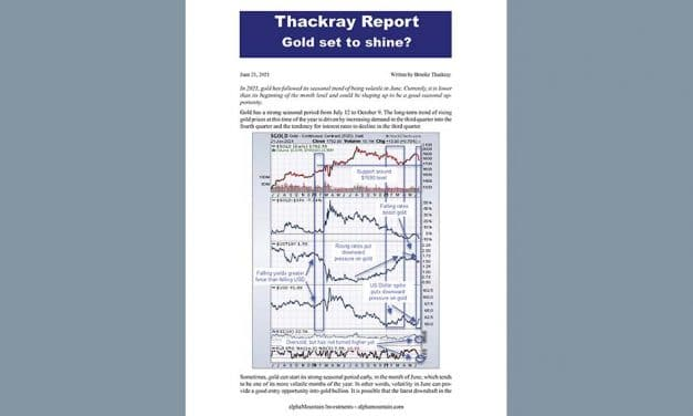 Thackray's Report- Gold set to shine?
