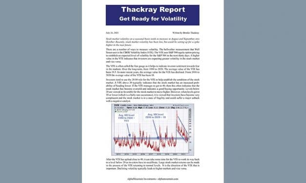 Thackray's Report- Get Ready for Volatility