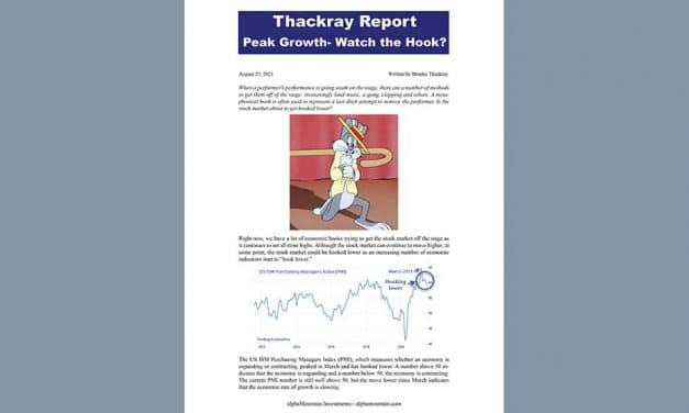 Thackray's Report- Peak Growth – Watch the Hook!