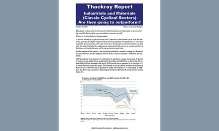Thackray's Report- Stagflation – Industrials and materials are they going to outperform?