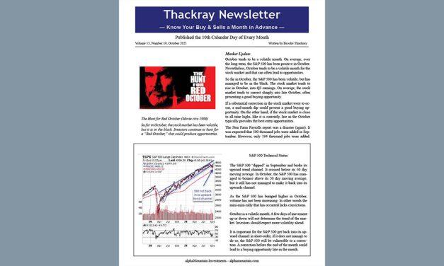Thackray Newsletter 2021 October